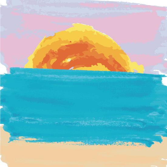 art prints - Watercolor Sunrise by Bri Santacaterina