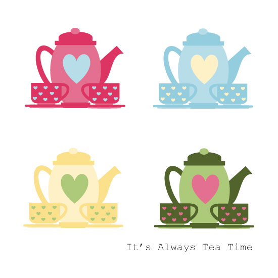 art prints - It's Always tea time! by Clarine