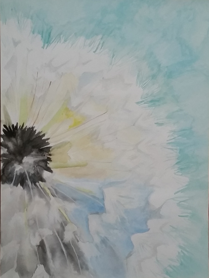 art prints - Cheerful Dandelion by Alicia Saint John