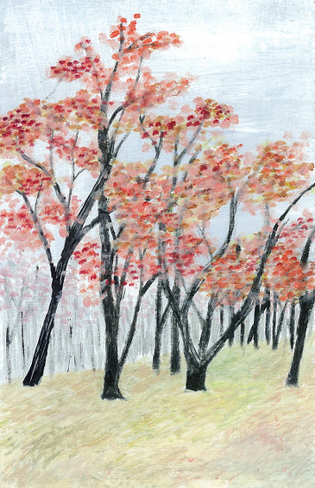 art prints - Scarlet Autumn by Alicia Saint John