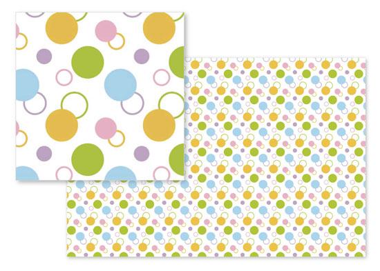 fabric - Joyful circles by Su Yu Liao