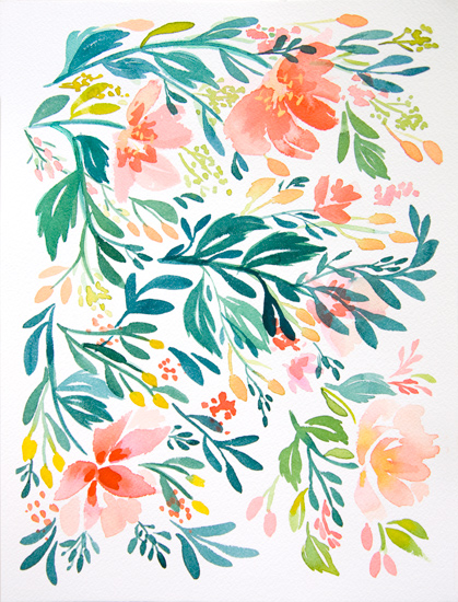 art prints - Dancing Peonies by Natalie Malan