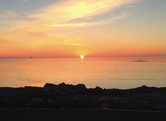 art prints - Lake Michigan Sunrise by Bri Santacaterina