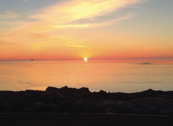 art prints - Lake Michigan Sunrise Chicago by Bri Santacaterina