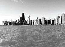 Chicago Skyline Black a... by Bri Santacaterina