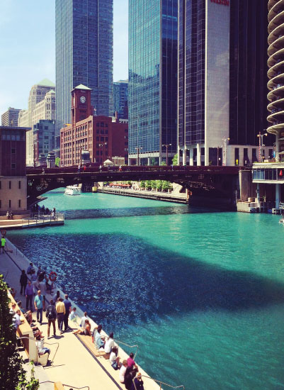art prints - Chicago Riverwalk by Bri Santacaterina