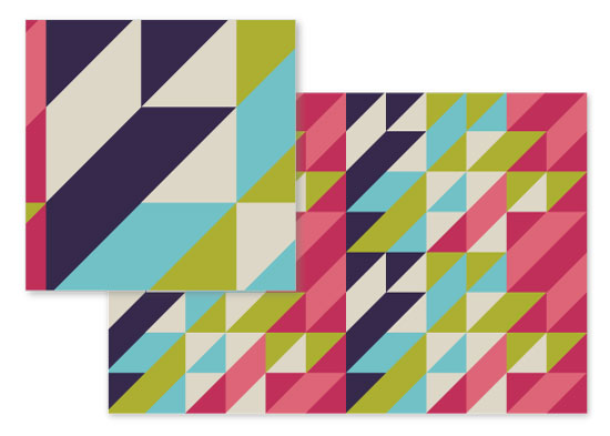 fabric - Geo Squares by Paula Riley