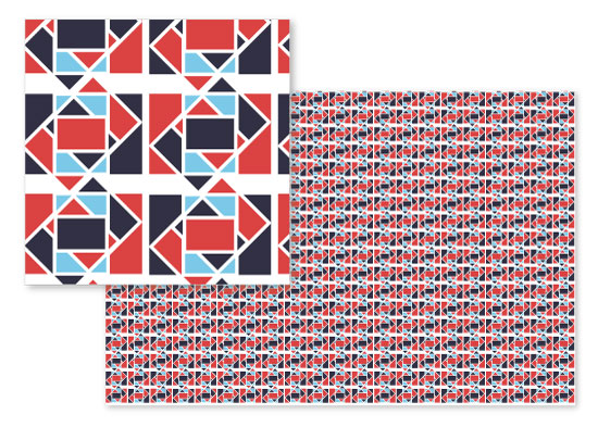 fabric - Rectangle Tango by Carmelita Mills