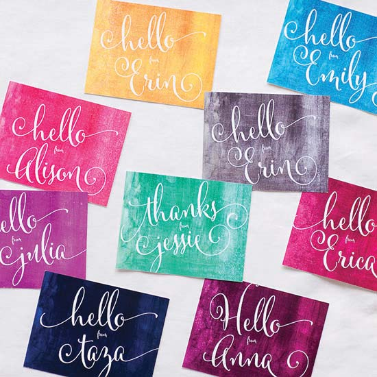 personal stationery - Watercolor Rainbow Notecards by Annie Taylor