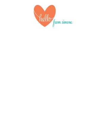 personal stationery - Hello Heart by Brittany Ghio