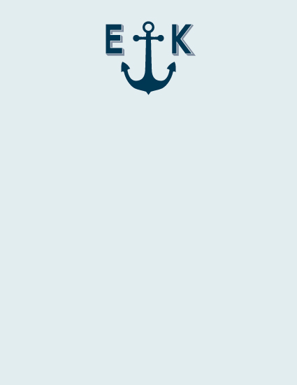 personal stationery - Anchors Away by Maria Koontz