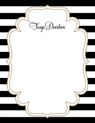 personal stationery - Chic Stripes by Brittany Ghio