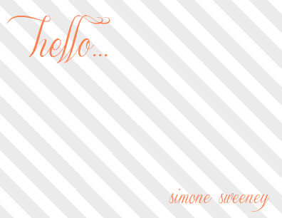 personal stationery - A Striped Hello by Brittany Ghio