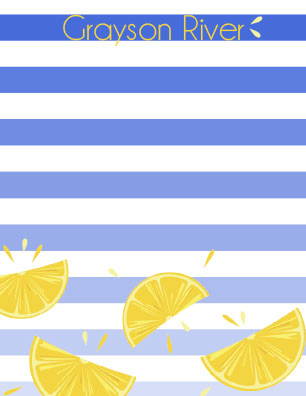 personal stationery - Citrus Stripes by Brittany Ghio
