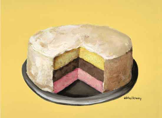 art prints - Neapolitan Cake by JJ Galloway Studio