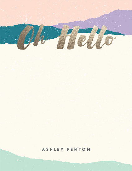 personal stationery - Brushed Oh Hello by Amber Barkley