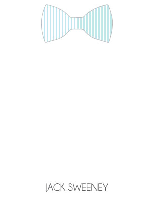 personal stationery - Dashing Bowtie by Brittany Ghio