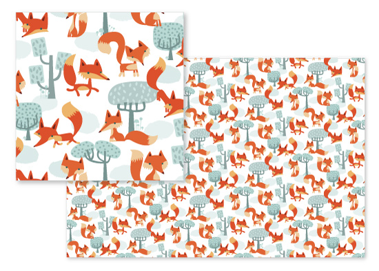 fabric - Foxy Forest by Eulalia Mejia