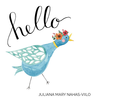 personal stationery - Sending you a Tweet by Juliana Nahas-Viilo