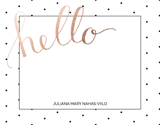 personal stationery - Do the Polka by Juliana Nahas-Viilo