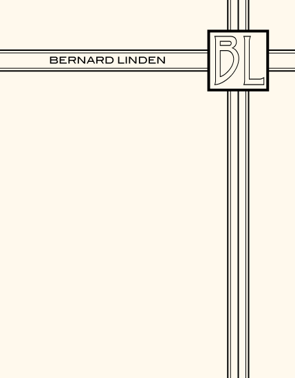 personal stationery - Monogrammed Cross by Brendan Lim