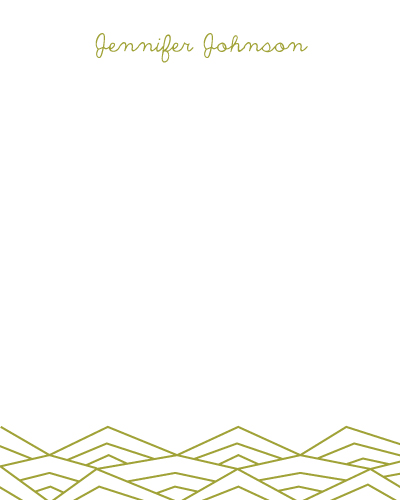 personal stationery - Geometric Valley by Maija Rebecca