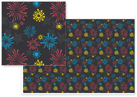 fabric - Fireworks by Erin Blankley
