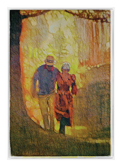 art prints - A Walk in the Park by A Maz Designs