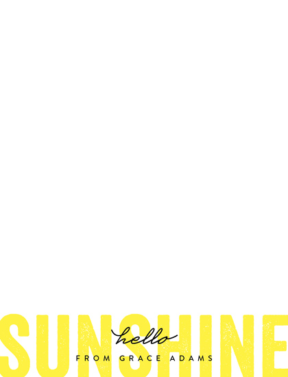 personal stationery - Hello Sunshine by Erica Krystek