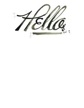A Bold Hello