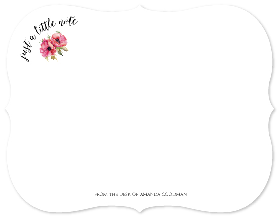 personal stationery - Just A Little Note by Evelyn Francis Cook