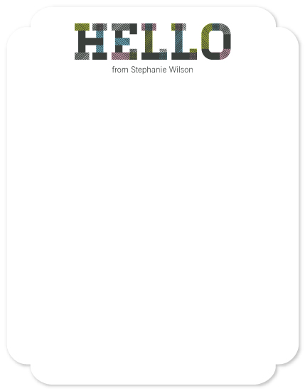 personal stationery - Patterned HELLO by Evelyn Francis Cook