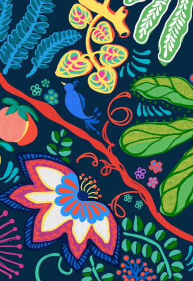art prints - Jacobean Jungle by Verso Prints
