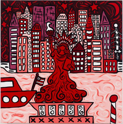 art prints - Red Lady by Laura Loving