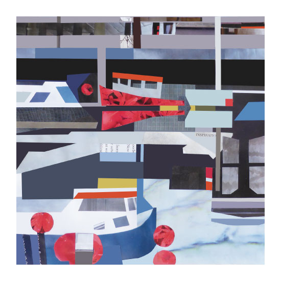 art prints - Harbour collage 2 by Suzie Gilmour