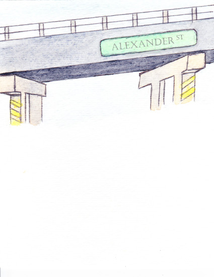 personal stationery - Overpass by Alicia Saint John