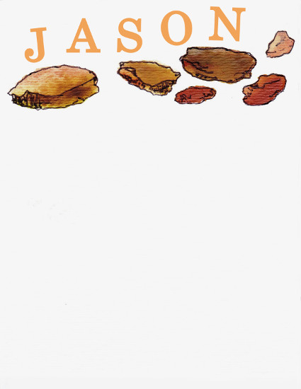 personal stationery - Rocks by Alicia Saint John