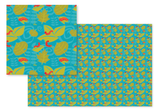 fabric - Kiddiepillars by Erin Blankley