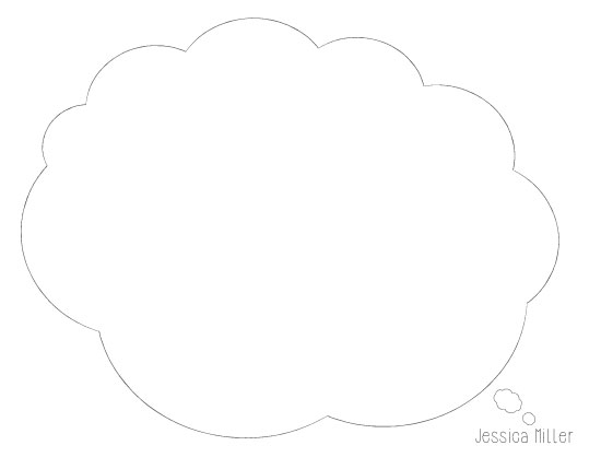 personal stationery - Thinking Cloud by Julie Darrell