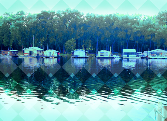 art prints - Boathouses by Tammy Senrick