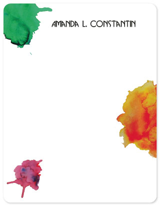 personal stationery - Mere Color by Sonya F. Contino