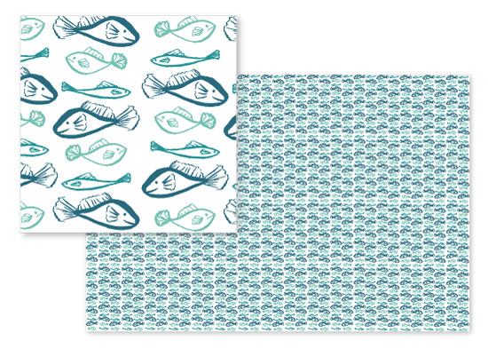 fabric - School of Fish by Laura Green