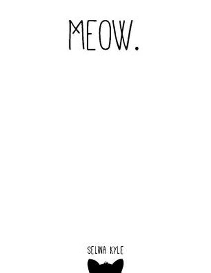 personal stationery - Meow by Paula Riley