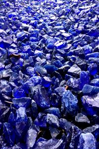 art prints - Blue Glass Rocks by L. Manas