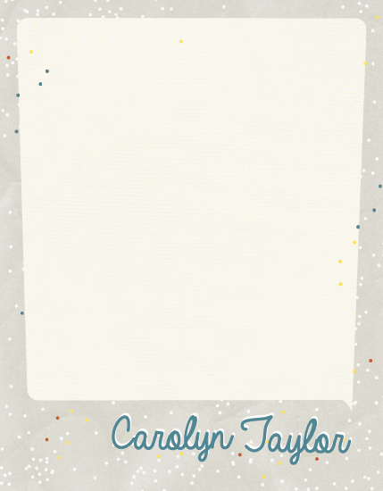 personal stationery - Retro glitter by Joyrich Design Company
