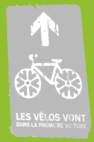art prints - Bicycle Sign by L. Manas