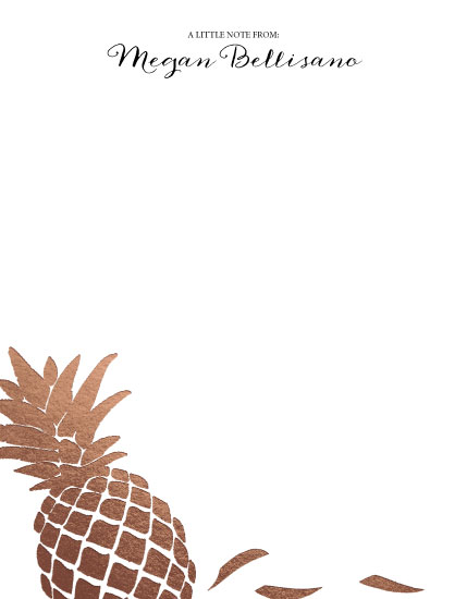personal stationery - Pineapple Delight by 365 Designs