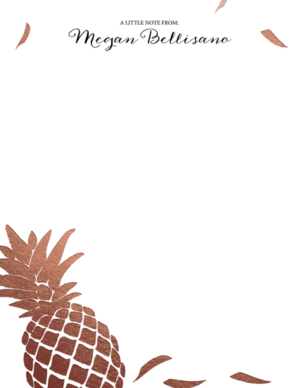 personal stationery - Pineapple's Delight by 365 Designs