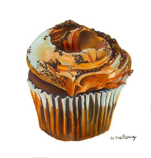 art prints - Chocolat Cupcake by JJ Galloway Studio