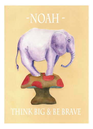 art prints - Scaredy Elephant by JJ Galloway Studio